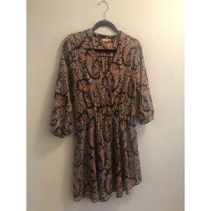 Lush Paisley Dress SZ L Nordstrom